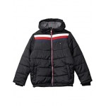 Tommy Hilfiger Kids Chevron Signature Puffer Jacket (Big Kids) Moonless Night