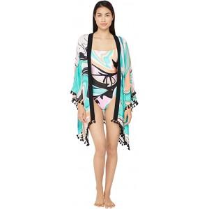 Nazare Tassel Kimono Swimsuit Cover-Up Multi