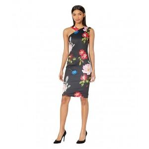 Polayo Berry Sundae Asymmetric Dress Black