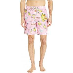 Hawaii Map Swim Shorts Coral