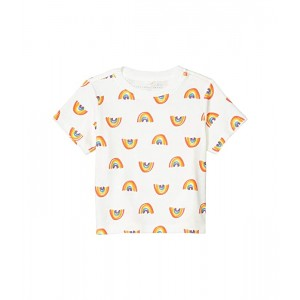 Stella McCartney Kids Short Sleeve Rainbow Tee Early (Infant) White Multi
