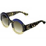 GG0084S Shiny Glitter Blue/Havana/Glitter Gold