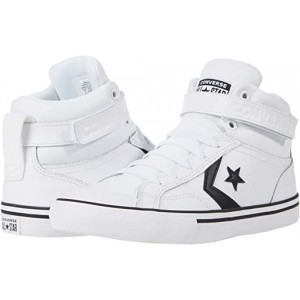 Converse Kids Pro Blaze Strap - Hi (Little Kidu002FBig Kid) White/Black/White