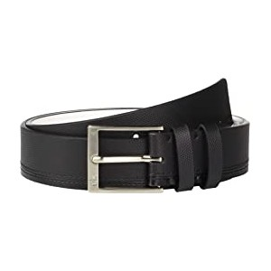 35mm Pieced Strap Leather Belt Black