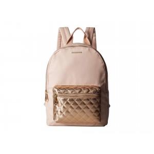 Quilted Pocket Backpack Rose Gold