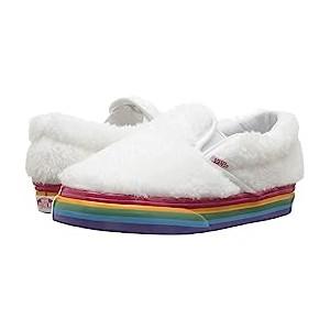 Classic Slip-On (Infant/Toddler) (Shearling Rainbow) True White