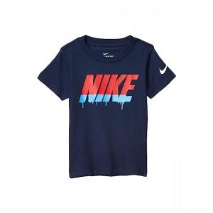 Nike Kids Block Drop Short Sleeve Graphic T-Shirt (Toddler) Midnight Navy