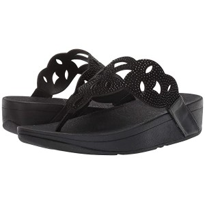 FitFlop Elora Crystal Toe Thong Sandal Black