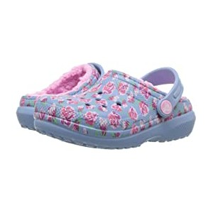 Classic Lined Clog (Toddler/Little Kid) Chambray Blue/Carnation