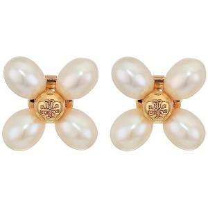 Pearl Clover Stud Earrings