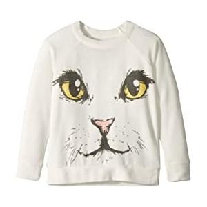 Extra Soft Kitty Face Pullover Sweater (Toddler/Little Kids)