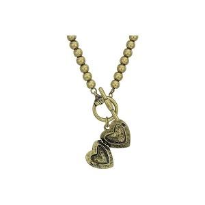 16 Heart Crest Locket Necklace