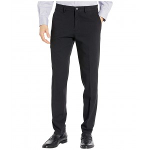 Four-Way Stretch Solid Twill Slim Fit Flat Front Chino Black