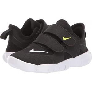 Nike Kids Free RN 5.0 (Infantu002FToddler) Black/White/Anthracite/Volt