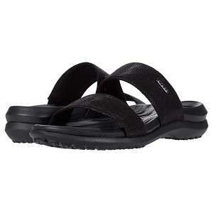 Capri Dual Strap Sandal Black
