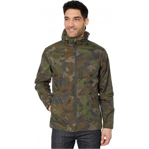 Columbia Roan Mountain Jacket Olive Green/Cloudy Clouds Print