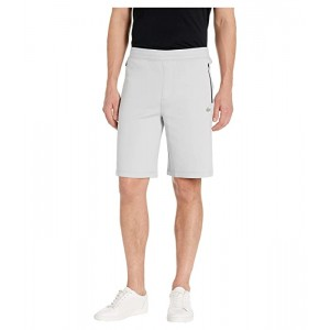 Lacoste Solid Bermuda Shorts Silicon Croc & Lacoste Badge at Bottoms Leg Motion Light Grey