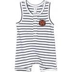 Stripe Sleeveless Romper (Infant)
