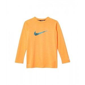 Nike Kids Heather Long Sleeve Hydroguard (Big Kids) Total Orange
