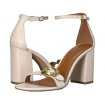 Maya 85mm Sandal with Signature Buckle Chalk Leather