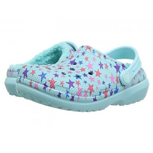 Classic Printed Lined Clog (Toddler/Little Kid) Ice Blue