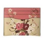 Mixed Floral Print Flat Card Case