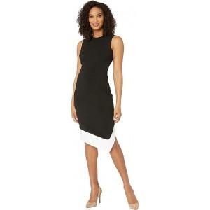 Asymmetric Hem Color-Block Dress