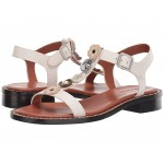 Tea Rose T Strap Sandal - Leather Chalk