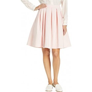 Pleated A-Line Skirt Rose