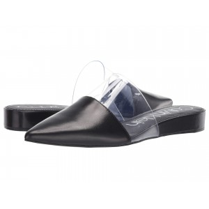 Charmone Black Leather/Clear Lucite