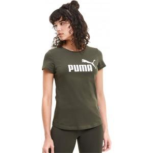 PUMA Essential Logo Tee Forest Night