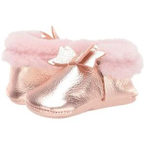 Rose Gold Shearling Bow Mocc (Infant/Toddler) Rose Gold