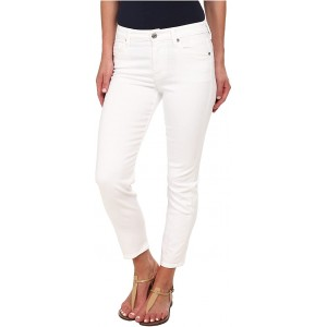 7 For All Mankind Kimmie Crop in Clean White Clean White