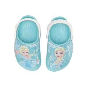 CrocsFunLab Frozen Elsa Light Clog (Toddler/Little Kid) Ice Blue