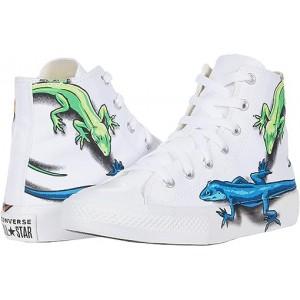 Converse Kids Chuck Taylor All Star Leapin Lizards - Hi (Little Kidu002FBig Kid) White/Sedona Red/Black