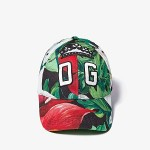 Dolce & Gabbana Anthurium Baseball Cap Black