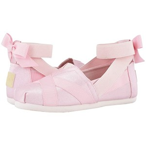 TOMS Kids Alpargata Ballerina (Little Kidu002FBig Kid) Pink Shiny Glitz