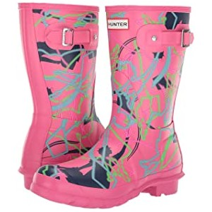 Disney Mary Poppins Original Short Rain Boots Arcade Pink Bright Camo Print