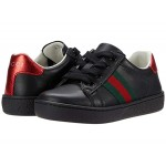 Leather Low Top Sneaker wu002F Web (Toddler)