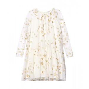 Long Sleeve Gold Stars Tulle Dress Early (Toddleru002FLittle Kidsu002FBig Kids)