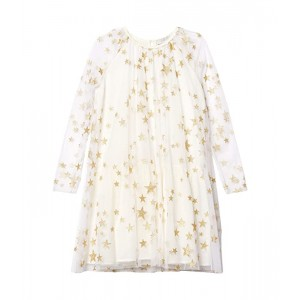 Long Sleeve Gold Stars Tulle Dress Early (Toddler/Little Kids/Big Kids)