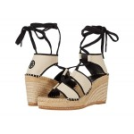 Color-Blocked 65 mm Lace-Up Espadrille