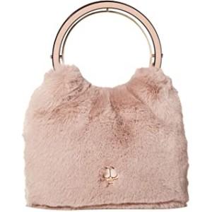 Betty Fur Swag Bag Dusty Rose