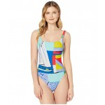 Polo Ralph Lauren Scenic Print Square Neck Mio One-Piece Multi