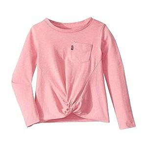 Long Sleeve Twisted Hem Top (Toddler) Sachet Pink Snow Yarn