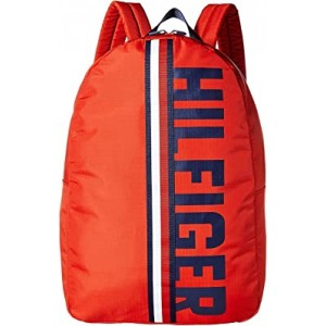 Knox Hilfiger Rip Stop Nylon Backpack Red