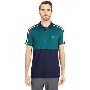 Short Sleeve Two-Color Stripe Polo