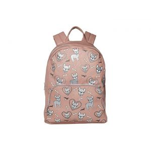 Dog Print Large Backpack Mauve