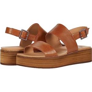 Steve Madden Teenie Wedge Sandal Cognac Leather