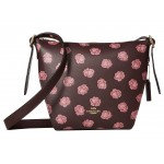 Whls Rose Print Small Dufflette Gold/Oxblood